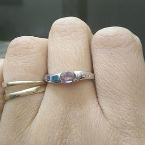 Amethyst opal ring nwt .925 on inner band